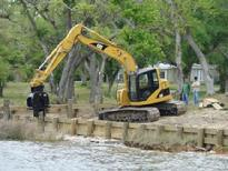 Seawall and pier construction in Biloxi, MS